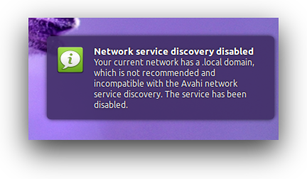 Avahi-Network-Service-Discovery-Disabled